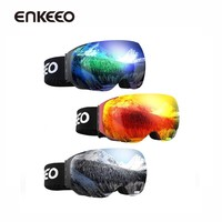 Enkeeo Ski Goggles Detachable Dual Layer UV400 Anti-fog Glasses Skiing Men Women Snow Snowboard Goggles Frame Ski Eyewear Glass