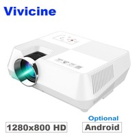 720P HD Projector, Optional Android WIFI Bluetooth HDMI USB PC Mini LED Projector Handheld Movie Beamer for Video games