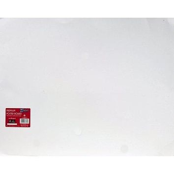 U-Create Premium Poster Board, 22in x 28in, 18pt, White, 25 Sheets