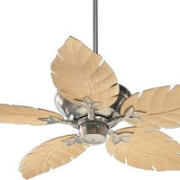 "0-000290>Monaco Patio Indoor/Outdoor 52"" 5-Blade Patio Ceiling Fan Satin Nickel"