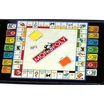 Official Monopoly Game Board with money Fridge Magnet big 2.5 X 3.5 inches