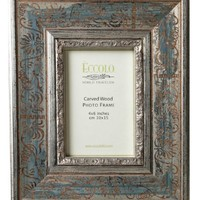 Eccolo Fashion Antiqued Carved Wood Frame, Vigna, 5 by 7-Inch