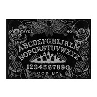 Ouija with Angel of Death Black glass cutting board 11x8