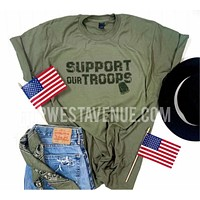 Support Our Troops - Olive