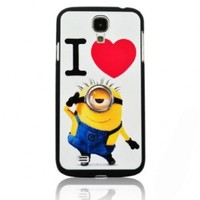 BYG Despicable Me I Love Minions Style Hard Case Skin for Samsung Galaxy S4 I9500 + Gift 1pcs Phone Radiation Protection Sticker:Amazon:Cell Phones & Accessories