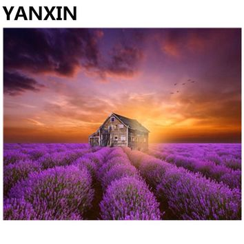 YANXIN DIY Framed Painting By Numbers Oil Paint Wall Art Pictures Decor For Home Decoration 5757