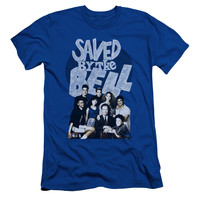 Saved by the Bell Retro Cast Royal Blue Fine Jersey T-Shirt