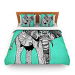 "Pom Graphic Design ""Elephant of Namibia Color"" Lightweight Duvet Cover"