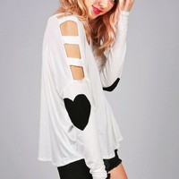 Heart Pumping Top | Trendy Clothes at Pink Ice
