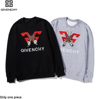 Givenchy sells casual hoodies with fashionable embroidered tops