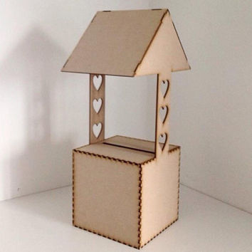 Wishing Well, mail box, post box, wedding post box, card holder, wedding box, wedding cards