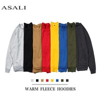 ASALI 2018 New Men Pullover Spring Autumn Fashion Mens Hoodies And Sweatshirts Long Sleeve Solid Sweatshirt Men US/Eur Plus Size