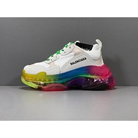 Balenciaga Triple S Clear Sole Trainers Rainbow Sneakers