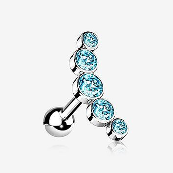 Journey Sparkle Curve Cartilage Tragus Barbell Earring