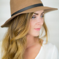 Misty Wide Brim Fedora