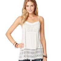 Aeropostale Womens Crochet Tank Top