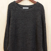 Go With The Flow Pullover, Charcoal