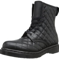Dr. Martens Women's Coralie Quilted Leather Boot ,Black,4 UK/6 M US