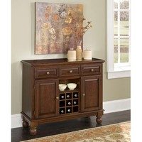 Home Styles Furniture 5300-0071 Wood Top on Cherry Kitchen Cabinet