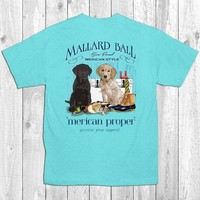 Merican Proper Mallard Ball Duck Hunt Dogs Semi Formal Preppy Southern Bright T-Shirt