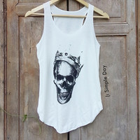 Skull King Tank Top Hipster tank top Tank top women Fitness top Summer Cloth Gift Summer fashion tshirt Vintage tank tops for woman Short