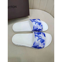 2021 LV Louis Vuitton Men's and women Leather  Casual Flat Sandal Slippers Shoes