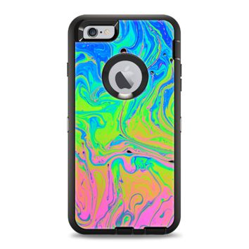 The Neon Color Swirls Apple iPhone 6 Otterbox Defender Case Skin