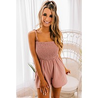 Young And Free Smocked Top Romper (Ginger)