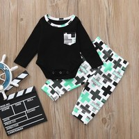 MUQGEW 2018 bebes baby boy girls clothes set 2pcs  Print Tops+Pants Clothing Set roupa menino  recien nacido newborn clothes
