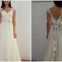 Reserved listing for  jhughes7 custom make Lace wedding dress