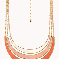 FOREVER 21 Funky Layered Necklace Cream/Orange One