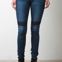 on the rise denim jeans