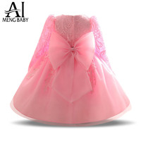 Ai Meng Baby Lace Toddler Girl Christening Gown Infant Baptism Dress 1 Year Birthday Baby Girl Outfits Kids Party Dresses Girl