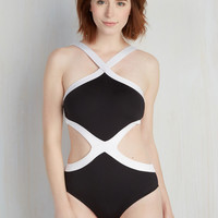 I've Got Your Backstroke One-Piece Swimsuit | Mod Retro Vintage Bathing Suits | ModCloth.com