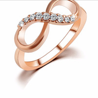 Gold Plated Crystal Rings