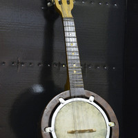 Unique Mandolin Hand made by 1890 Leather Acoustics, Made of Lime Poland, Solely Mandolin, Polish Style, Collectibles, Art Decor