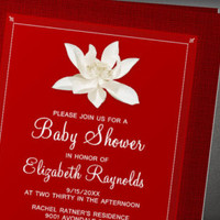 red baby shower invitations invitationsnob on Etsy, a global handmade and vintage marketplace.