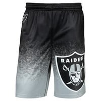 Oakland Raiders Official NFL Gradient Polyester Shorts