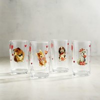 Valentine Puppies Juice Glass Set