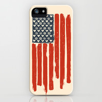 Red and Blue and White iPhone & iPod Case by Budi Satria Kwan