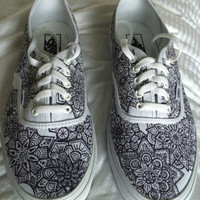 Men's or Women's Custom Designed Vans Canvas Authentic Lace Up Shoes