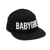 Babygirl Black 6-Panel Cap