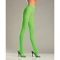 Opaque Nylon Pantyhose Green Qn