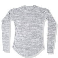 * Mister Extended Scoop LS Tee - Salt & Pepper