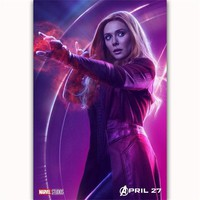 FX087 Hot Avengers Infinity War Scarlet Witch Marvel Movie Superhero Poster Art Silk Canvas Modern Home Room Wall Print Decor