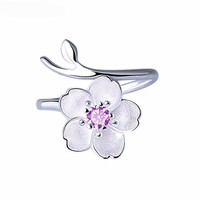 Sterling Silver Cherry Blossoms Ring