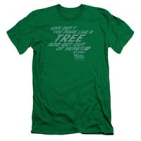 Back to the Future Make Like a Tree Kelly Green Fine Jersey T-Shirt
