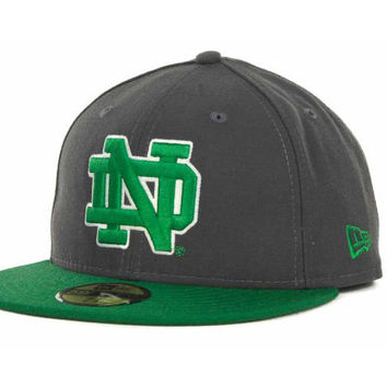 Notre Dame Fighting Irish NCAA 2 Tone Graphite and Team Color 59FIFTY