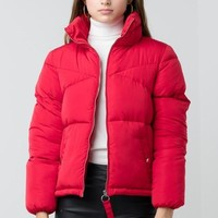 Cooped Up Puffer Jacket Red