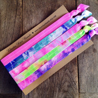 The Cotton Candy Headband Collection by Elastic Hair Bandz on Etsy
